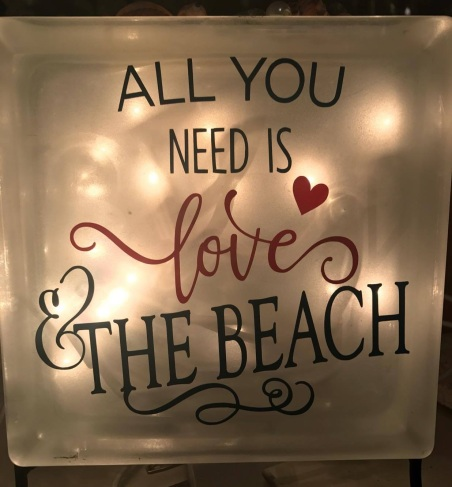love and beach love light